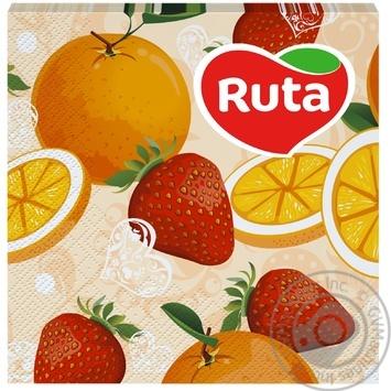 Салфетки Ruta Art Кухня Микс двухслойные 33х33см 20шт в ассортименте - купить, цены на ЕКО Маркет - фото 6