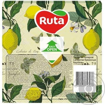 Салфетки Ruta Art Кухня Микс двухслойные 33х33см 20шт в ассортименте - купить, цены на ЕКО Маркет - фото 4