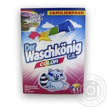 Порошок стиральный Der Waschkönig Color для цветных вещей 5кг - купить, цены на МегаМаркет - фото 1