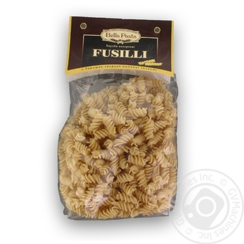 Макаронні вироби Bella Pasta Fusilli спіральки 400г - купити, ціни на МегаМаркет - фото 1