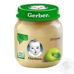 Пюре Гербер яблуко без крохмалю та цукру для дітей з 4 місяців 130г