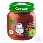 Fruit puree Gerber apple and wild berries for 5+ months babies 130g