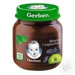 Пюре Гербер яблоко и чернослив без крахмала и сахара для детей с 5 месяцев 130г