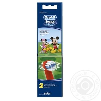 Сменные насадки для зубной щетки Oral-B с персонажами Disney 2шт - купить, цены на Novus - фото 3