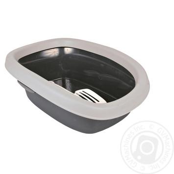 Туалет Trixie Carlo для котів з лопаткою 43х31х14см - купити, ціни на Ашан - фото 1