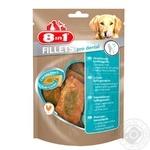 Ласощі для собак 8in1 Fillets Куряче філе для зубів 80г