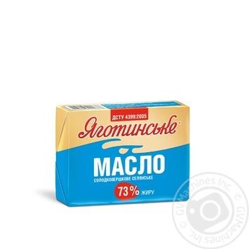 Масло сладкосливочное крестьянское 73% Яготинське 200г - купить, цены на Фуршет - фото 1