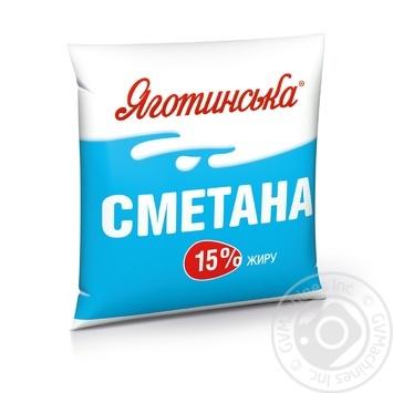 Сметана Яготинская 15% 400г - купить, цены на Novus - фото 1