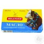 Масло Molendam Крестьянское сладкосливочное 72,6% 180г