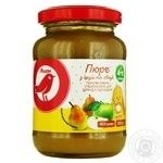 Auchan Puree Pear-apple for children from 4 months 200g