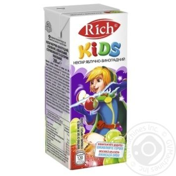Rich Kids Nectar Apple-grape Clarified Blended 0,2l - buy, prices for CityMarket - photo 2