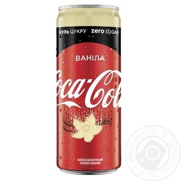 Напиток Coca-Cola Zero Ванила безалкогольный сильногазированный низкокалорийный 330мл - купить, цены на МегаМаркет - фото 1