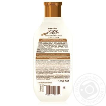 Шампунь Garnier Botanic Therapy Кокосовое молочко и макадамия для нормальных и сухих волос 400м - купить, цены на Novus - фото 2