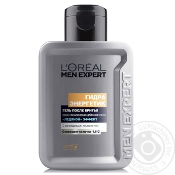 L'oreal Paris Men Expert After shave gel Hydra Energetic Ice effect 100ml - buy, prices for Novus - image 2