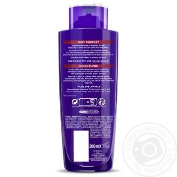 Тонуючий шампунь L'Oreal Paris Elseve Color Vive Purple освітленого та меліруваного волосся 200мл - купити, ціни на Метро - фото 3