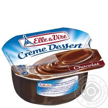 Десерт сливочный Elle&Vire шоколад 2,9% 100г
