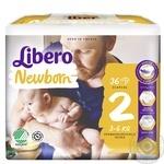 Подгузники детские Libero Newborn 2 3-6кг 34шт - купить, цены на Восторг - фото 2