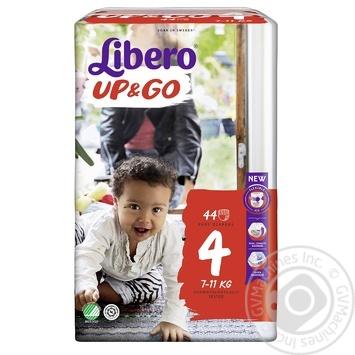 Подгузники-трусики Libero Up&Go 4 7-11кг 44шт - купить, цены на Ашан - фото 2