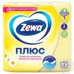 Zewa Plus with camomile aroma yellow 2-ply toilet paper 4 pieces - buy, prices for EKO Market - photo 2