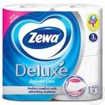 Туалетная бумага Zewa Deluxe Delicate Care белая 3-х слойная 4шт - купить, цены на Varus - фото 2