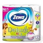 Туалетная бумага Zewa Kids белая 3-х слойная 4шт - купить, цены на МегаМаркет - фото 2