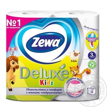 Zewa Kids white 3-ply toilet paper 4pcs - buy, prices for Novus - image 2