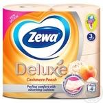 Туалетная бумага Zewa Deluxe Cashmere Peach 3-х слойный 4шт - купить, цены на ЕКО Маркет - фото 2