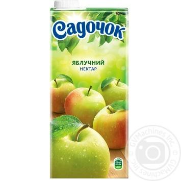 Нектар Садочок Яблочный неосветлённый Slim 0.95л - купить, цены на Фуршет - фото 4