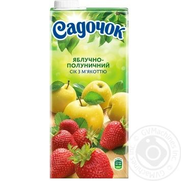 Sadochok apple-strawberry juice 0,95l - buy, prices for Furshet - image 5