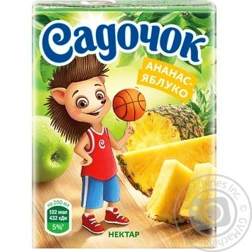 Sadochok Apple-pineapple Nectar 0,2l - buy, prices for MegaMarket - image 4
