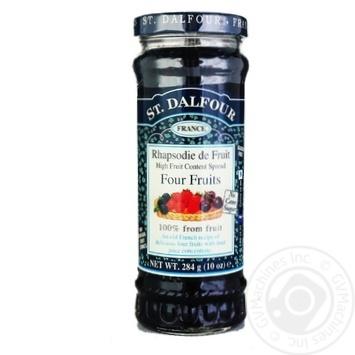 Джем Сент Далфур Чотири ягоди 284г Франція - купити, ціни на МегаМаркет - фото 3