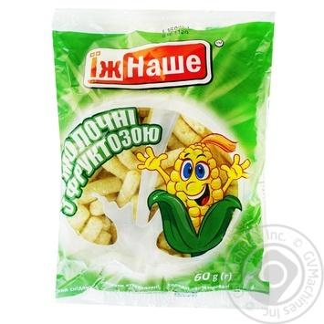 Палочки кукурузные Ешь Наше молочные с фруктозой 60г - купить, цены на Фуршет - фото 3