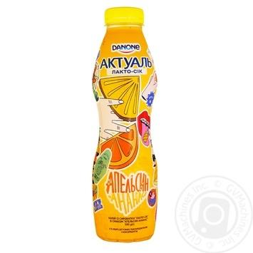 Напій із сироватки Актуаль Лакто-сік апельсин-ананас 0% 580г