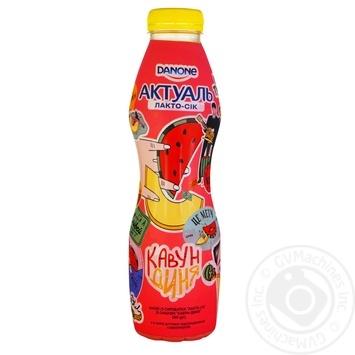 Напиток из сыворотки Актуаль Лакто-сок арбуз-дыня 0% 580г - купить, цены на Novus - фото 1