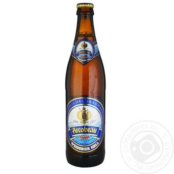 Пиво Arcobrau Weissbier Hell світле нефільтроване 5,3% 0,5л