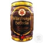 Пиво Wurzburger Kellerbier светлое нефильтрованное 5,4% 5л