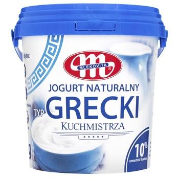 Йогурт Mlekovita греческий 10% 1кг