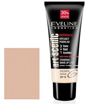 Крем тональный Eveline Professional Make-Up 3в1 пастельный 30мл - купить, цены на Ашан - фото 2