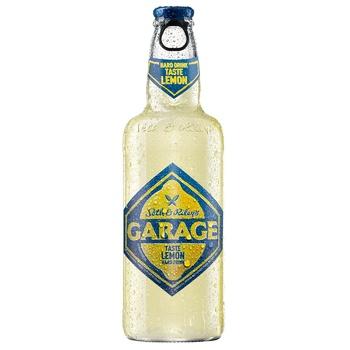 Пиво Seth & Riley's GARAGE Hard Lemon светлое специальное пастеризованное со вкусом лимона 4.6% 0.44л - купить, цены на Фуршет - фото 1