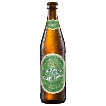 Lwiwske Exportowe Light Beer 5,5% 0,5l - buy, prices for CityMarket - photo 1