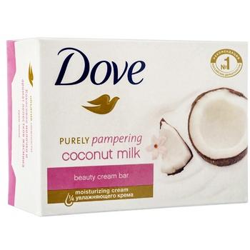 Крем-мыло Dove Кокосовое молочко и лепестки жасмина 135г - купить, цены на Фуршет - фото 2