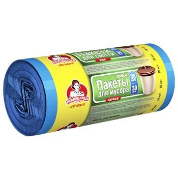 Пакеты для мусора Помощница прочные 35л 30шт - купить, цены на Ашан - фото 2