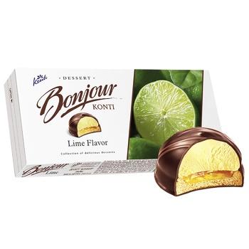 Десерт Konti Bonjour Лайм 232г - купить, цены на Пчёлка - фото 2