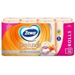 Туалетная бумага Zewa Deluxe Персик трехслойная 16шт - купить, цены на Novus - фото 2