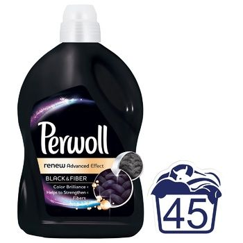 Средство для деликатной стирки Перволь Блек для черных и темных вещей  2,7л - купить, цены на Novus - фото 2