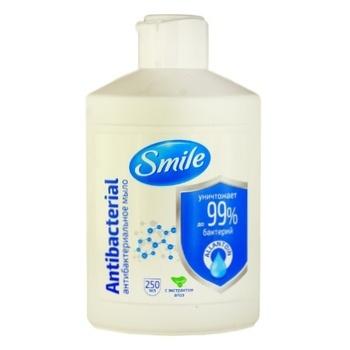 Мило жидкое Smile антибактериальное 250мл - купить, цены на МегаМаркет - фото 1