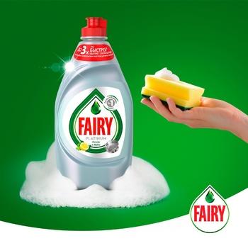 Средство для мытья посуды Fairy Platinum Лимон и лайм 430мл - купить, цены на Восторг - фото 2