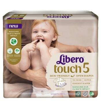 Підгузники Libero Touch 5 для дітей 10-14кг 42шт - купити, ціни на МегаМаркет - фото 6
