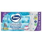 Туалетная бумага Zewa Deluxe Delicate Care белая 3-х слойная 8шт - купить, цены на Ашан - фото 4