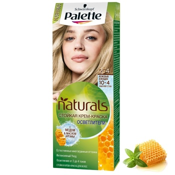 Palette Naturals Color 10-4 (254) Beige Blonde Hair Dye 110ml - buy, prices for Auchan - photo 5